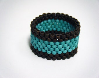 Chocolate & Turquoise Ring