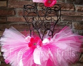 PINKALICIOUS BLING -  Includes GLITTER Tutu w/free Matching Flower Headband - You Choose - Sizes 0 3 6 9 12 24 2T 3T 4T 5T