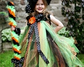SPELLBOUND SADIE WITCH - Includes Tutu Dress w/Matching Witch Hat & Wristles - Choose size 12-24 2t 3t 4t 5t