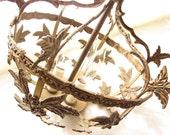 Antique Solid Brass Hanging Lamp Treasury Item