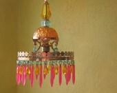 RESERVED  for Debra , First Installment, Chandelier Lighting,  Vintage Crystal and Brass, One of a Kind