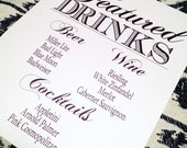 Signature or Featured Drink Sign for your Bar - Completely Customizable