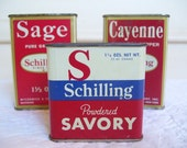 A Trio of Vintage Schilling Spice Tins - An Instant Collection