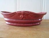 A Vintage California Pottery Burgundy Planter - 1/2 OFF