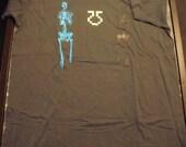 Duel Skeleton shirt gray w/ free print