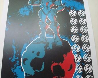Metroid poster print