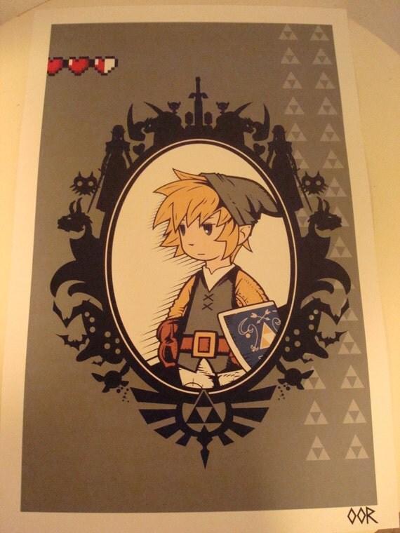 Zelda poster print