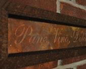 Pane Vino Dolce framed copper engraved art