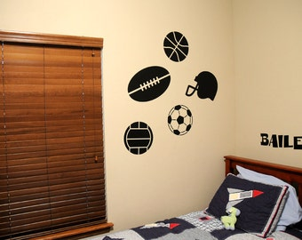 Sports Equipment Pack - Wall Decals