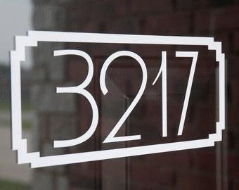 Address with Border 2 (Small) - Vinyl Decal