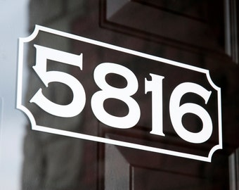 Address with Border 6 (Small) - Vinyl Decal