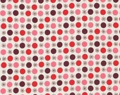 SALE - Flea Market Fancy - Red Flowers and Circles by Denyse Schmidt from Free Spirit
