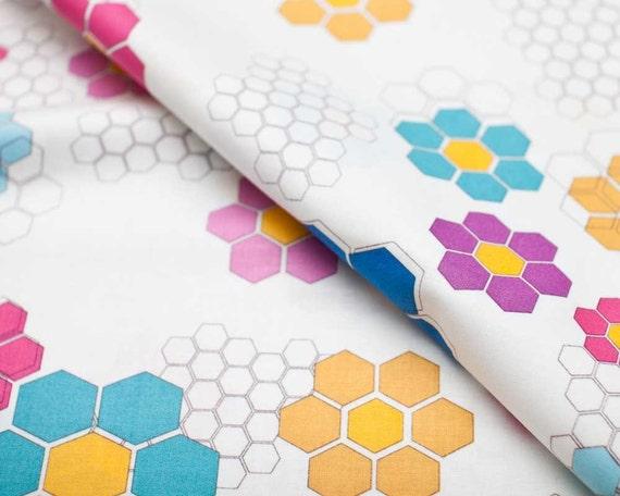 SALE - Quilt Blocks - Metro Flower Garden - spectrum by Ellen Luckett Baker from Moda
