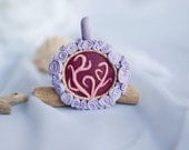 OOAK Placenta Lotus Flower Birth Bead