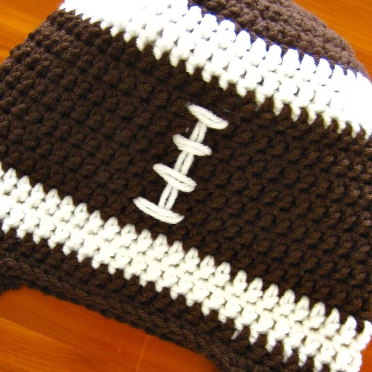 Daddys Little Football Fan Crochet Hat Pattern PDF