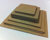 DESTASH paper SALE - brown KRAFT square die cuts scrapbooking supplies scrapbook cardstock Assorted sizes