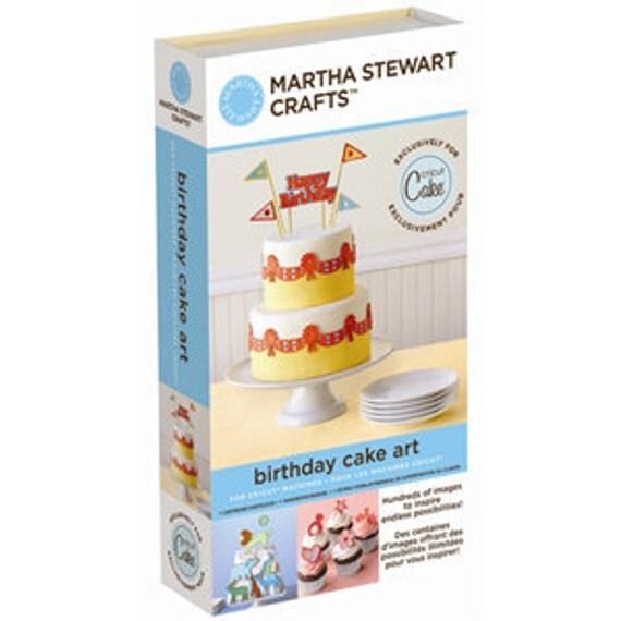 Birthday Cake Art - NEW Cricut Cartridge MARTHA STEWART Baking Decoration Tool Supplies