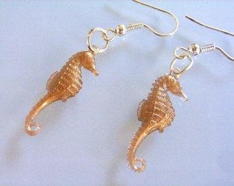 Seahorses Seahorse Earrings brown Miniblings Sea Horse