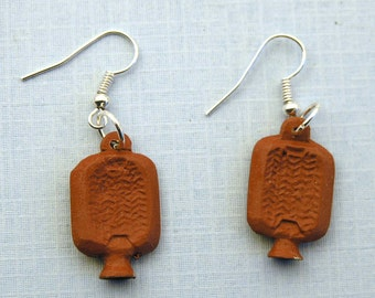 Hot Water Bottles Earrings Hottie Miniblings Miniature