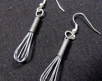 Egg Whisk Eggbeater Earrings metal Miniblings Mixer Cooking Cook