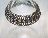 Blue Stretchy Chainmaille bracelet
