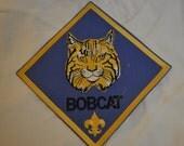 Vintage 90's Iron On Bobcat Patch