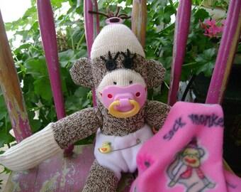 Baby Girl Sock Monkey