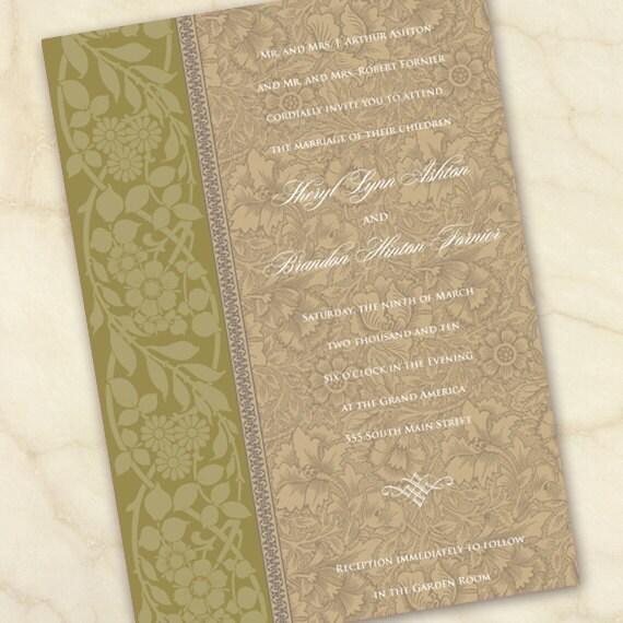 wedding invitations, olive wedding invitations, avocado wedding invitations, fall floral wedding invitations, avocado bridal shower