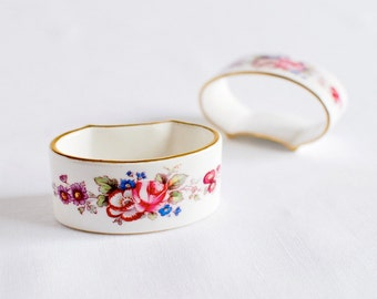 Vintage English China Napkin Rings