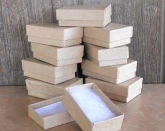 Kraft Jewelry Boxes- Jewelry Gift Box - Set of 100 - 2 5/8 x 1 5/8 x 7/8 inch RESERVED LISTING