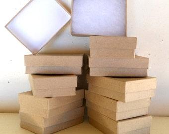 Kraft Jewelry Boxes- Jewelry Gift Box - Set of 20 - 3 1/8 x 2 1/4 x 1 1/8 inch