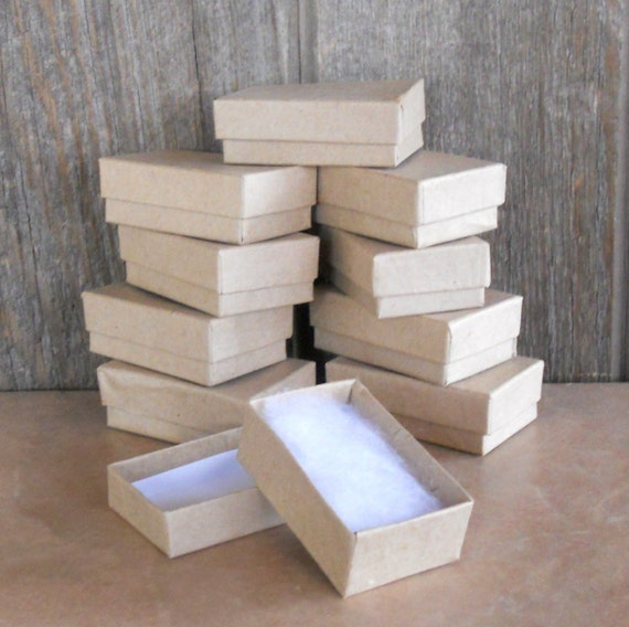 Kraft Jewelry Boxes- Jewelry Gift Box - Set of 10 - 2 5/8 x 1 5/8 x 7/8 inch