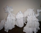 Pottery Nativity Ceramic Bisque for you to paint