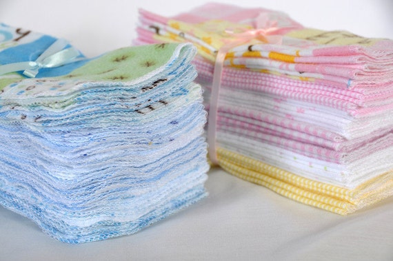 Reusable Cloth Baby Wipes - 1 Dozen.