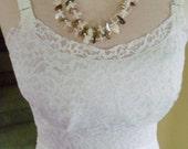 Vintage Acetate and Nylon Slip-Dress Size 34