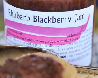 Rhubarb Blackberry Jam (Low Sugar)