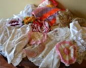 Collection of Doilies (35) Total Includes blanket, doilies, etc