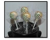 Round Stripe Cake Pops