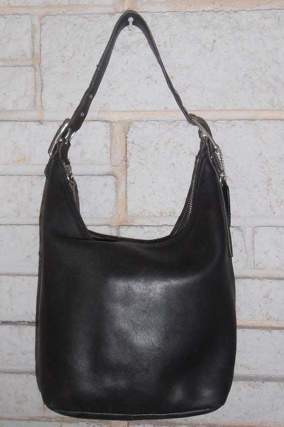 Authentic Coach black leather  HOBO Style  purse  LARGE