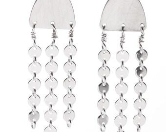 sterling  jellyfish earrings