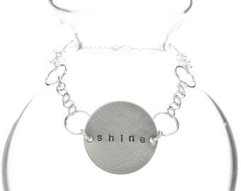 customizable circle chain bracelet