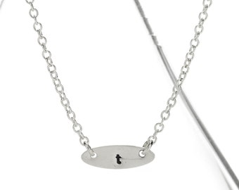 sterling stamped initial necklace