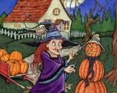 Pumkin Witch - original illustration