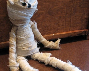 Mummy Doll Primitive Country Halloween Decoration
