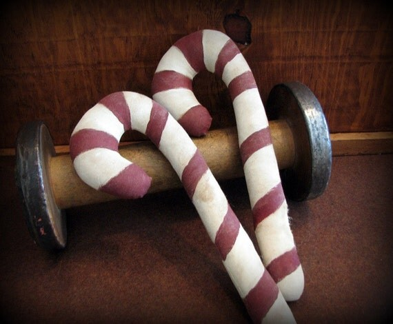 Candy Canes Primitive Holiday Christmas Decoration