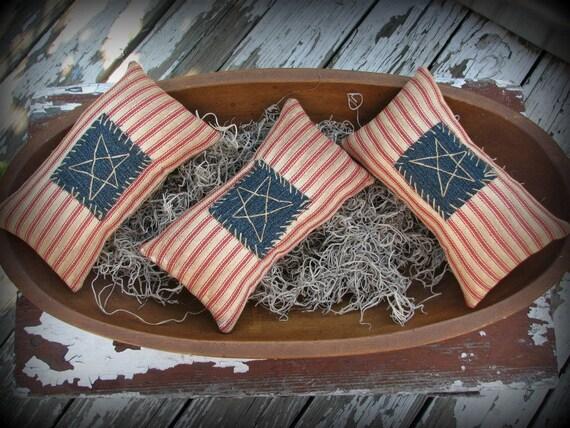 Americana Flag Pillow Bowl Filler Primitive Decor