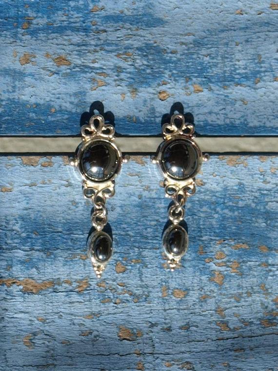 Vintage Hematite Earrings