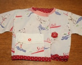 Vintage 1950's Newborn Baby Boy Jacket - Baseball Theme -