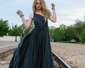 "RESERVED for brassbranches -7 Custom ""Infinity"" Ballgowns in Charcoal Venezia"