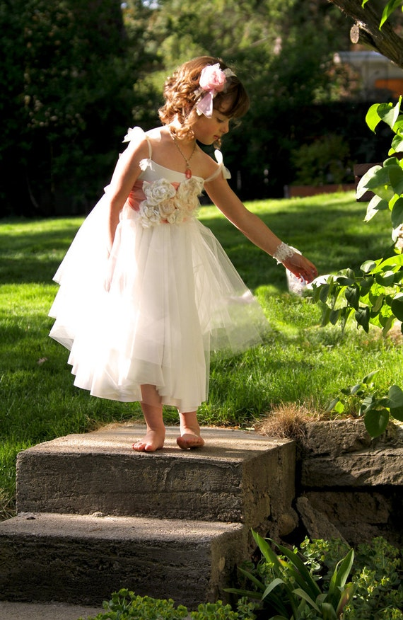 Items similar to Custom Jersey and Tulle Flower Girl ...